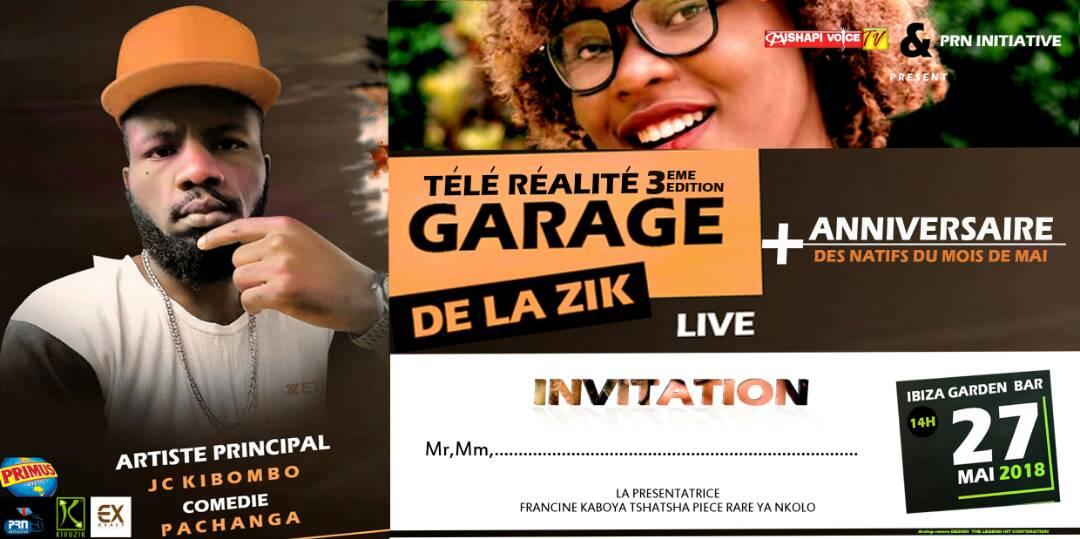 Goma : le 27 mai, 3eme édition de « Garage de la zik » la télé réalité présentée par Francine Tshatsha