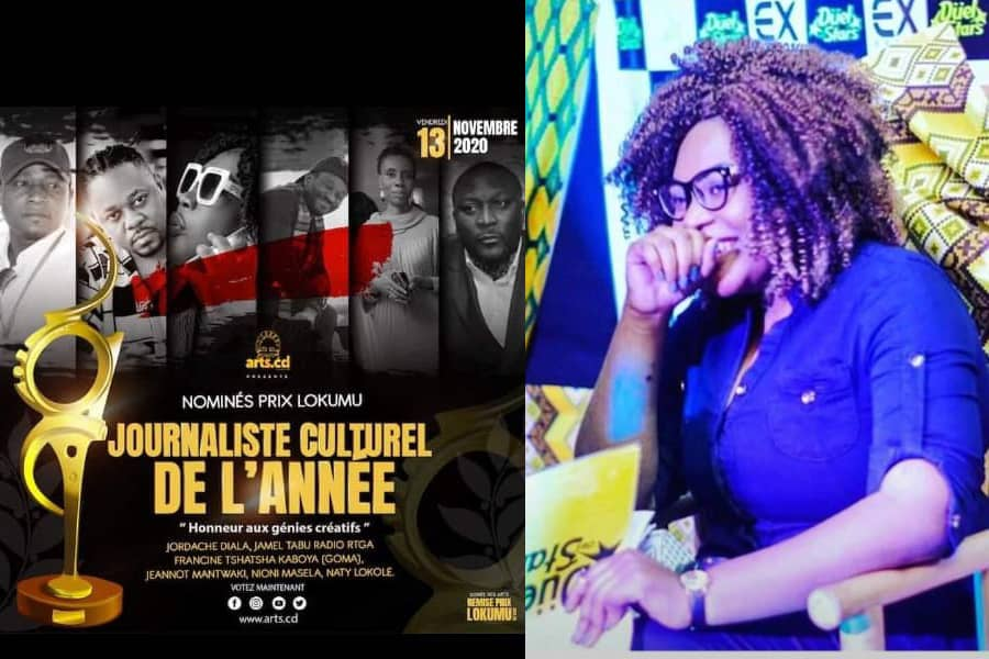 PRIX LOKUMU: Francine Kaboya, lunique nominée de lintérieur du pays dans la catégorie  Journaliste Culturel de lannée
