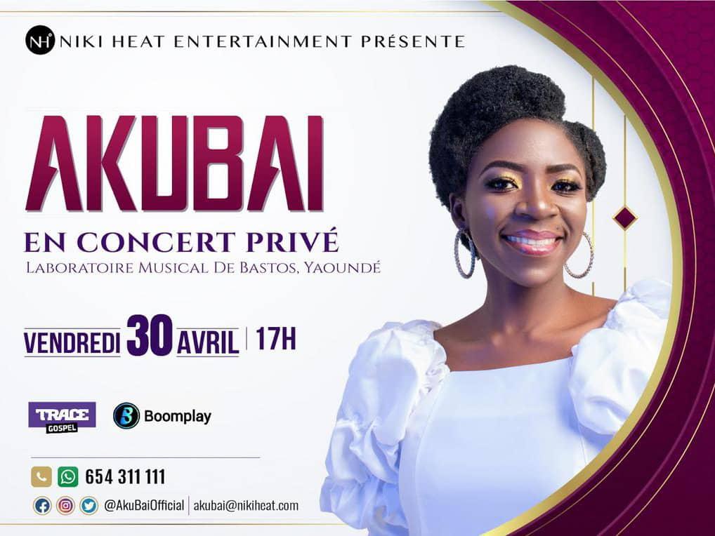 La star camerounaise du Gospel , AKUBAI  en concert privé ce 30 avril